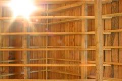 Telhado de madeira Foto de Stock