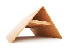 Telhado de madeira 3d. Construção da casa. Foto de Stock Royalty Free