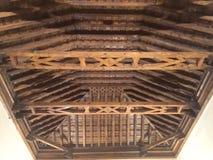 Telhado de madeira Fotografia de Stock