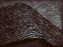 Telhado de madeira foto de stock royalty free