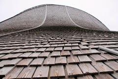 Telhado de madeira da telha do detalhe, Noruega Foto de Stock Royalty Free