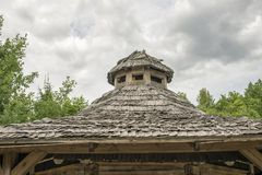 Telhado de madeira do lath foto de stock royalty free