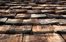 Telhado de madeira marrom velho Fotografia de Stock Royalty Free