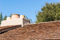 Telhado de madeira da telha Imagem de Stock Royalty Free