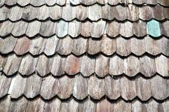 Telhado de madeira velho imagens de stock