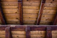 Telhado de madeira velho Foto de Stock