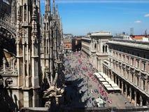 Telhado de Milan Cathedral Fotografia de Stock Royalty Free