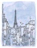 Telhado de Paris do vetor Fotos de Stock