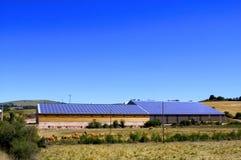 Telhado de photovoltaic Fotografia de Stock Royalty Free