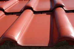 Telhado de telha da argila Fotografia de Stock