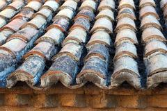 Telhado de telha redondo velho, Atenas, Grécia fotografia de stock
