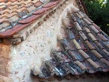 Telhado de telha redondo velho, Atenas, Grécia imagens de stock royalty free