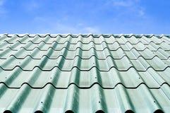 Telhado de telha verde Fotos de Stock Royalty Free