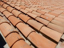 Telhado de telha vermelha Imagens de Stock
