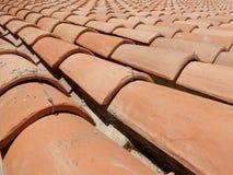 Telhado de telha vermelha Foto de Stock Royalty Free