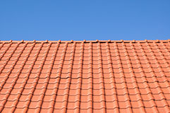 Telhado de telha vermelha. Imagens de Stock