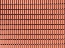 Telhado de telhas do fundo, marrom, de terra, cor da argila fotografia de stock