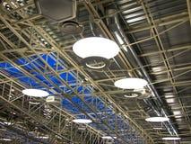 Telhado de uma fábrica moderna Fotografia de Stock