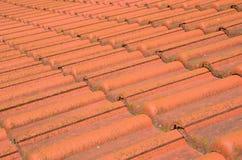Telhado de uma telha clássica natural Imagem de Stock Royalty Free