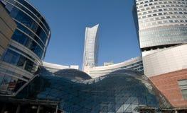 Telhado de vidro com torre Fotografia de Stock