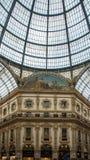 Telhado de vidro do art nouveau imagens de stock