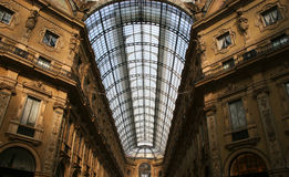 Telhado de Vittorio Emanuele II do Galleria imagens de stock royalty free
