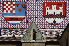 Telhado de Zagreb Fotos de Stock