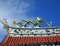 Telhado decorado do templo em Taiwan do sul Foto de Stock