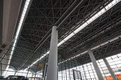 Telhado do aço estrutural Foto de Stock Royalty Free