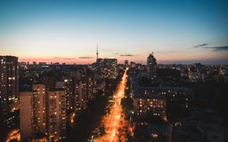 Telhado do arhitecture do lukyanovka de Ucrânia Kiev fotografia de stock royalty free