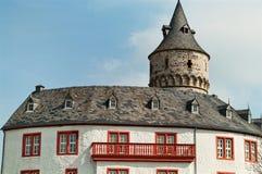 Telhado do castelo medieval Oelber em Alemanha Fotos de Stock Royalty Free