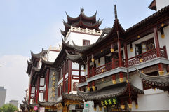 Telhado do chinês tradicional, Shanghai, China Fotos de Stock Royalty Free