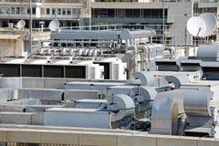 Telhado do condicionador de ar Foto de Stock