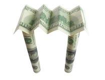 Telhado do dinheiro de algum disastre fotos de stock