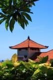 Telhado do edifício tradicional do Balinese Fotos de Stock