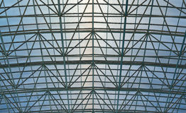 Telhado do estádio da piscina Imagem de Stock Royalty Free