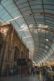 Telhado do estação de caminhos de ferro de Strasbourg fotos de stock royalty free