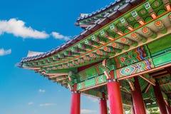 Telhado do palácio de Gyeongbokgung em Coreia Foto de Stock Royalty Free