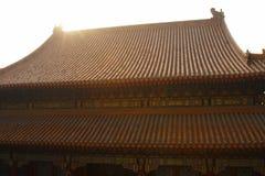 Telhado do palácio na luz solar Imagem de Stock Royalty Free