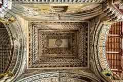 Telhado do salão durbar no palácio de Maratha fotos de stock royalty free