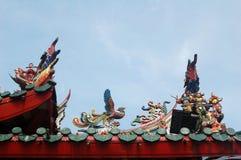 Telhado do templo foto de stock royalty free