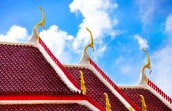 Telhado do templo budista Fotografia de Stock