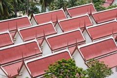 Telhado do templo de Tailândia Fotografia de Stock