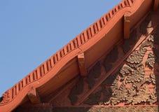 Telhado do templo de Wat Hua Kuang imagem de stock