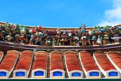 Telhado do templo do Buddhism Fotos de Stock Royalty Free