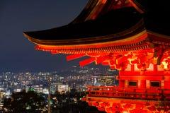Telhado do templo em Kiyomizu-dera fotografia de stock