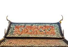 Telhado do templo, Tailândia Imagem de Stock