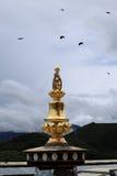 Telhado dourado do templo da Buda de Songzanlin foto de stock royalty free