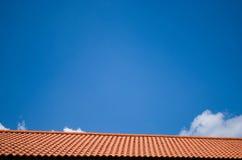 Telhado e céu Foto de Stock