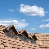 Telhado e céu Fotos de Stock